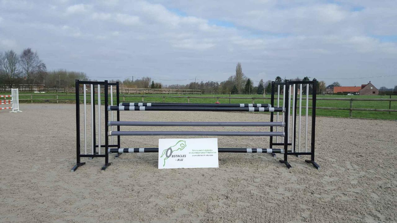 obstacle equitation oxer noir